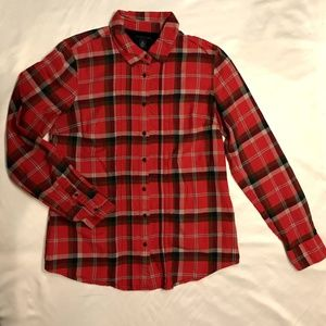 Tommy Hilfiger Red Plaid Button Down M